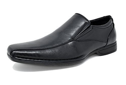 Bruno Marc Men's Giorgio-1 Black Leather Lined Dress Loafers Shoes - 10.5 M US