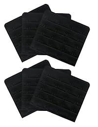 Sports Bra Extender - Best Comfort 4-Hook Bra Extenders for Women Black 6 Pack