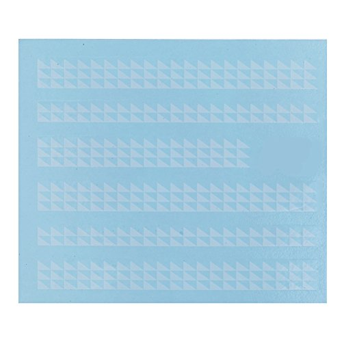 Best Quality Professional Nail Art Salon Card of 6pcs Stickers / Decals Decorations Strips With Geometrical Triangles Shapes Designs / Patterns In White Color By VAGA