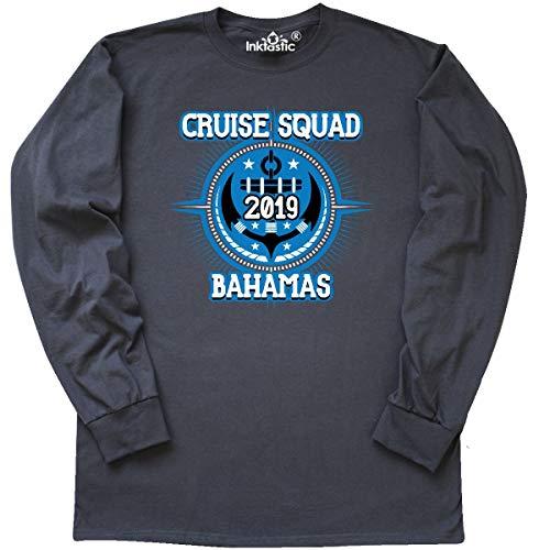 inktastic Bahamas Cruise 2019 Vacation Long Sleeve T-Shirt Medium Charcoal Grey