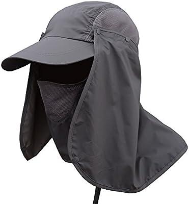 Aesy Sombreros de Pesca, Al Aire Libre Extraíble Protección Solar ...