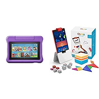 Fire 7 Kids Edition Tablet + Osmo Genius Kit Bundle (Purple)