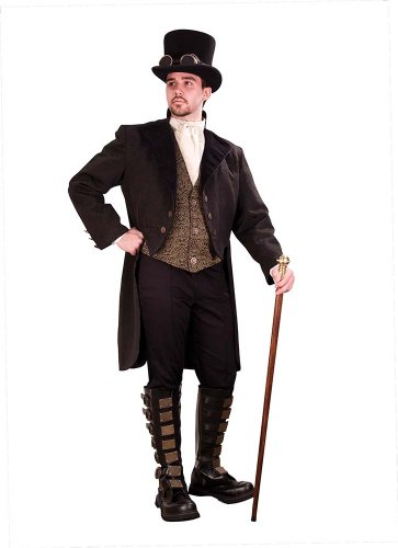 Victorian Era Mens Costumes - Steampunk Gentleman's Empire Opera Coat - Small
