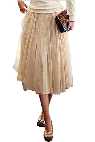 Chiffon Knee Length Skirt - 2