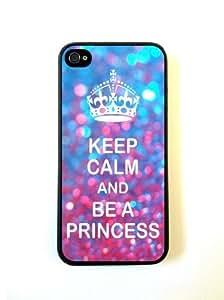 Keep Calm Princess Shades Case For Iphone 4/4S Over CaFor Designer PC Case Verizon AT&T Sprint