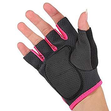 Sonline NUEVO Deporte Ciclismo Fitness Gym medios guantes del dedo entrenamiento con ejercicios de pesas - Negro con borde Rojo S: Amazon.es: Deportes y ...