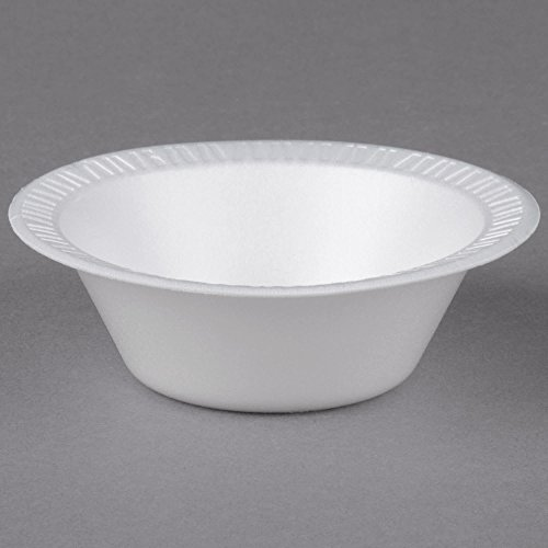 - TableTop King 35BWWQ Quiet Classic 3.5-4 oz. White Laminated Round Foam Bowl - 125/Pack