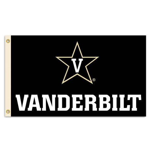 NCAA Vanderbilt Commodores Flag with Grommets, 3x5-Feet