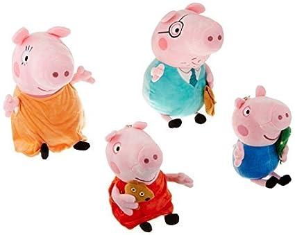Peppa Pig – Cerdito de peluche de la familia (4 unidades) Babies George Regular