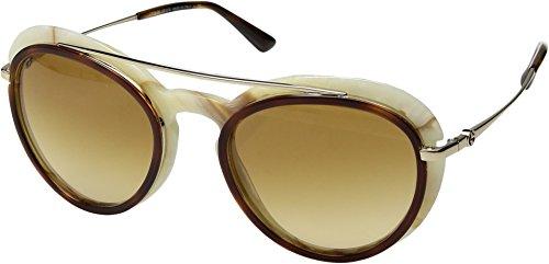 Giorgio Armani Women's 0AR6055 Pale Gold/Red Havana/Yellow Gradient One - Gold Sunglasses Giorgio Armani