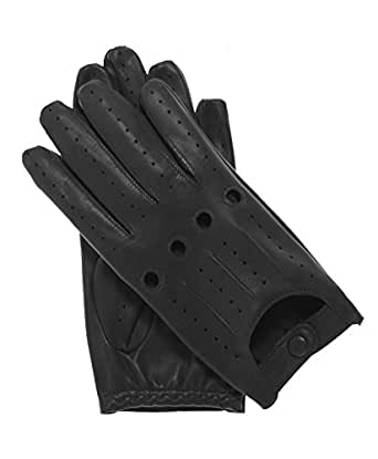 Fratelli Orsini Everyday Men's Italian Lambskin Leather Driving Gloves Size 7 Color Black