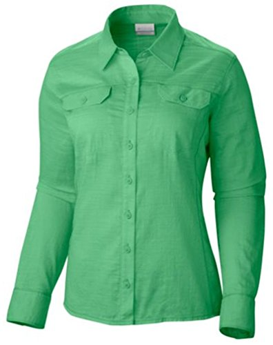 Columbia Women's Camp Henry Solid L/S Shirt S, Green