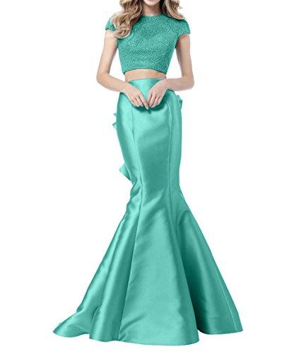 Ballkleider Abendkleider mia Langes Bodenlang Promkleider Partykleider Pailletten Festlichkleider Gruen Minze Meerjungfrau La Brau pw6q4YWFwT