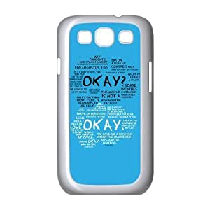 Cyber Monday Store Customize Samsung Galaxy S3 I9300 Back Case The Fault in Our Stars JNS3-1393 Kimberly Kurzendoerfer