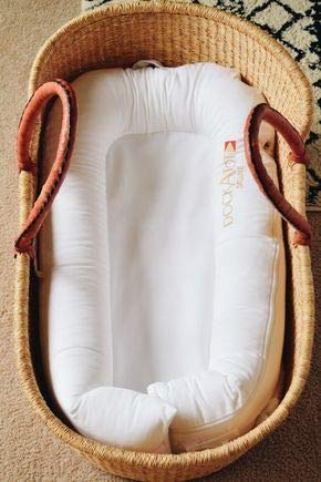 Moses basket Baby bassinet African Moses basket with brown leather handle