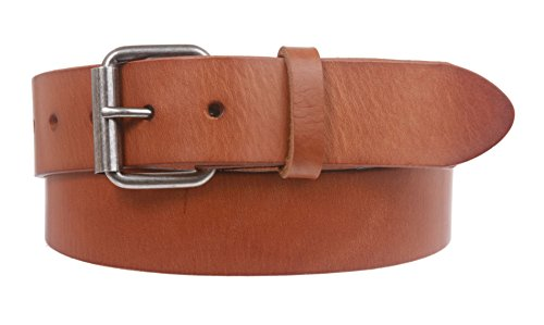 Snap On Oil Tanned Top Grain Genuine Vintage Retro Leather Belt Size: 34 Color: Tan