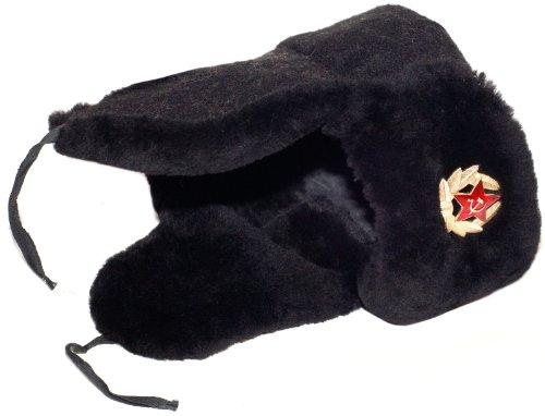 Navy Lamb (Navy Officer of the Russian Federation Lambskin Ushanka Hat-61 Soldier Insignia)