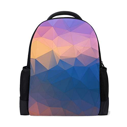 (Polygon Triangles Convexity Bookbag School Backpack Luggage Travel Sport Bag)