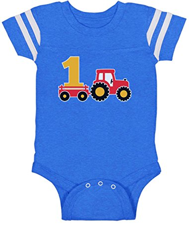 One Year Old Boy Birthday Gift 1st Birthday Tractor Baby Jersey Bodysuit 18M (One Year Old Birthday Party Ideas)