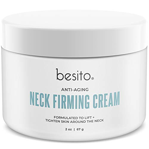 41ozTzXpVzL - besito Advanced Neck Cream with Peptides, Vitamin E, Shea Butter, and More. Anti Aging Neck Firming Cream and Moisturizer Helps Reduce Wrinkles, Fine Lines and Age Spots.