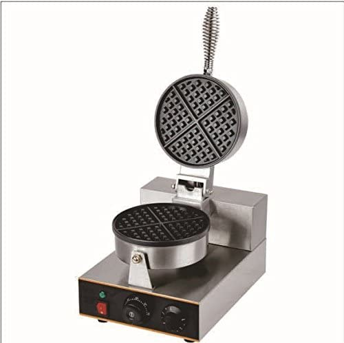 Commercial Nonstick Electric Dual Rotary Belgian Waffle Maker Baker Machine Iron