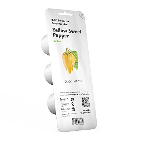 Click and Grow Smart Garden Yellow Sweet Pepper Plant Pods, 3-Pack