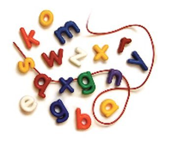 5 Pack ROYLCO INC. LOWERCASE MANUSCRIPT LETTER BEADS by Roylco
