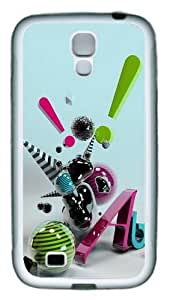 3D Abstract Art TPU Rubber Soft Case Cover For Samsung Galaxy S4 SIV I9500 White