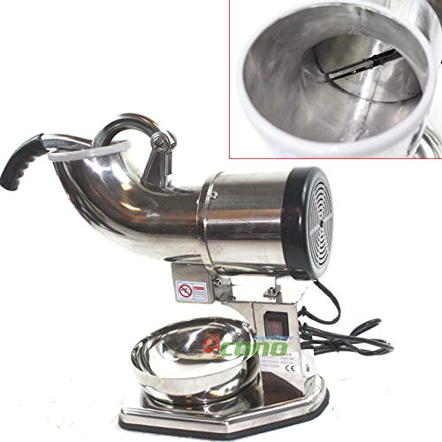 KCHEX>Electric Snow Cone Machine Ice Shaver Maker Shaving Crusher>This is the ice shaver of the ice shaver. All stainless steel Constructed, extra high efficiency, dual stainless steel blade.