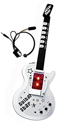 Sound Music and Light Fun Junior Guitar with Microphone & Speaker for Kids & beginners Great Gift (Gui5862A)