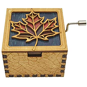 Buy Allamazing Carved Wooden Music Box Hand Crank Musical Box Hand Engraved Wooden Music Box