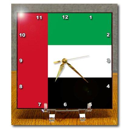dc_159811_1 InspirationzStore Flags - Flag of the United Arab Emirates UAE - Emirati Red blue white black stripes - Arabian world country - Desk Clocks - 6x6 Desk Clock