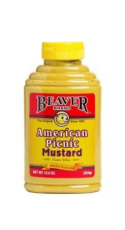 Beaver, Picnic Mustard 12.5 oz. (6 count)