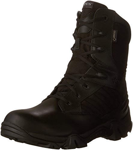Sport Composite Toe Side Zip - Bates Men's GX-8 8 Inch Ultra-Lites GTX Waterproof Boot, Black, 10 M US