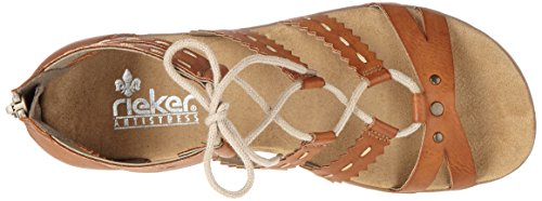 Rieker 64239, Sandalias con Cuña para Mujer Marrón (Cayenne / 24)