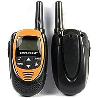Coper New 1 Pair of Emperor GT 22-channel LCD Screen 5 Km Distance 2-way Walkie Talkies Orange