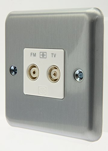 MK Albany Plus - K3582 MCO - Isolated TV/FM Diplexer Twin Outlet by MK - Outlet Albany