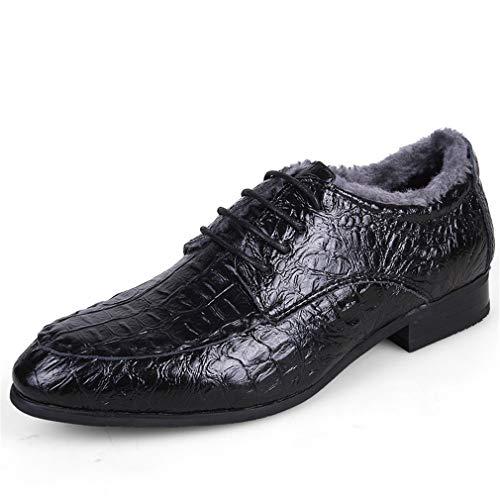 Hommes Taille 38 à en Chaussures Pointu d'affaires Chaussures Classiques Couleur F pour pour Chaussures à Cuir Bout Femmes YAN Lacets UxqpHEwWHn
