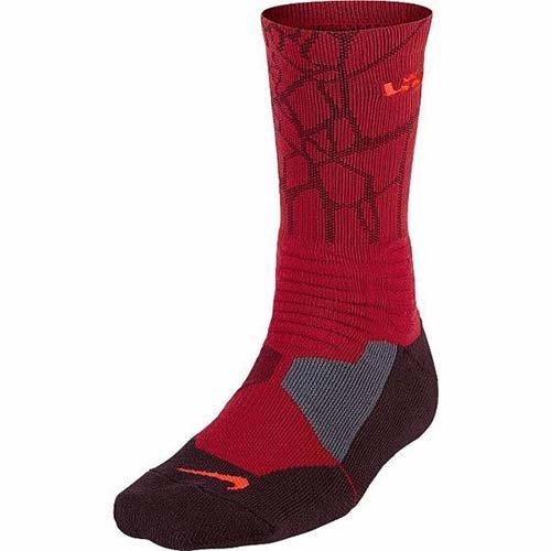 new style ceb8e 16015 Galleon - Nike Lebron Hyper Elite Basketball Crew Socks Mens Medium.
