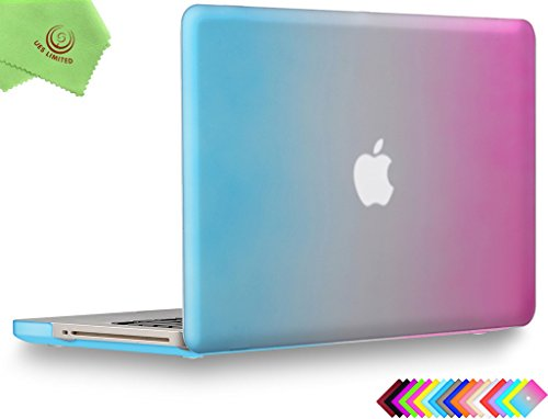 UESWILL Smooth Soft-Touch Matte Hard Shell Case Cover for MacBook Pro 13 with CD-ROM (Non-Retina) (Model A1278) + Microfibre Cleaning Cloth, Rainbow
