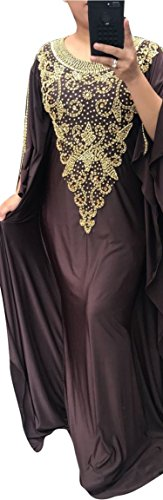 WUBU Sexy Hand beaded Slim Boho Kaftan Maxi Casual Party Prom Long Dresses Evening Gown Cocktail Dress (USA SELLER)