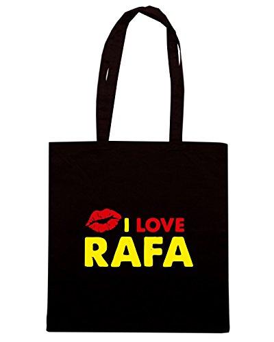 T-Shirtshock - Bolsa para la compra TLOVE0125 rafa lips light Negro