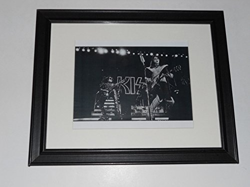 Framed Kiss Ace Frehley & Gene Simmons 1977 LA Forum on Stage Poster 14
