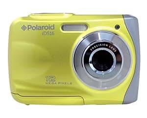 Polaroid ID 516 - Cámara de fotos subacuática de 12 Mp (pantalla de 2.4'', zoom 8x, estabilizador), amarillo