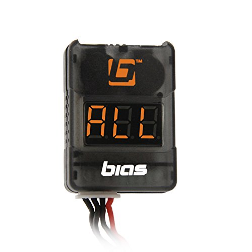 Bias Low Voltage Monitor/Alarm with LCD Display for 2S 3S 4S 5S 6S 7S 8S RC LiPo Batteries ()
