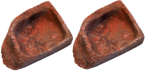 Namiba Terra 25711 Ecknapf, 7 x 10 x 2,5 cm Doppelpack, rot