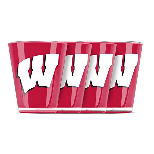(Wisconsin Badgers Shot Glass - 4 Pack)