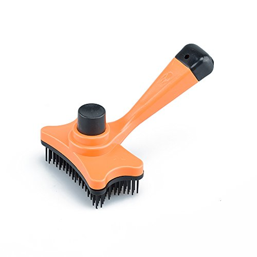 Litter Magnet - Pet Glooming Brush Self Cleaning Slicker Best Shedding Professional Deshedding Tools for Large/Medium/Small Dogs and Cats (Yellow)
