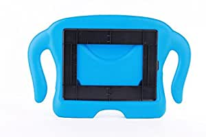 Portable Super Man Kids Child Eco-friendly EVA Foam Case with Handle & Stand for iPad 2/3/4 - Blue