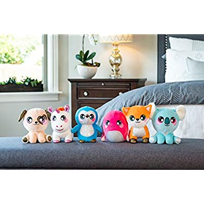 Squeezamals 3Deez Deluxe Stuffed Animals, Slow-Rise Foam, Emily The Fox: Toys & Games